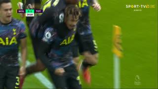 GOLO! Tottenham, D. Alli aos 9', Wolverhampton 0-1 Tottenham