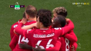 GOLO! Liverpool, S. Mané aos 9', Watford 0-1 Liverpool