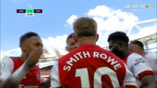 GOLO! Arsenal, E. Smith Rowe aos 12', Arsenal 1-0 Tottenham