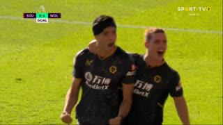 GOLO! Wolverhampton, R. Jiménez aos 61', Southampton 0-1 Wolverhampton