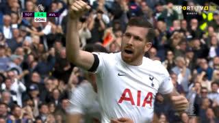 GOLO! Tottenham, P. Højbjerg aos 27', Tottenham 1-0 Aston Villa