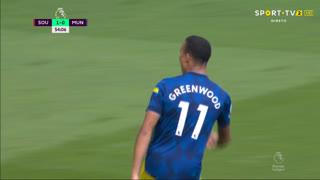 GOLO! Man. United, M. Greenwood aos 55', Southampton 1-1 Man. United
