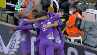 GOLO! Tottenham, Heung-Min Son aos 45'+4', Newcastle 1-3 Tottenham