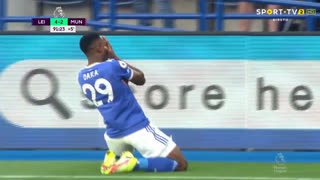 GOLO! Leicester City, P. Daka aos 90'+1', Leicester City 4-2 Man. United