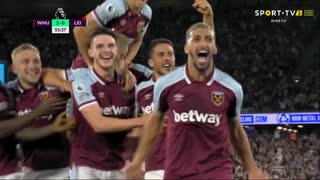 GOLO! West Ham, S. Benrahma aos 56', West Ham 2-0 Leicester City
