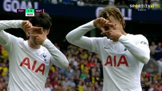 GOLO! Tottenham, Heung-Min Son aos 42', Tottenham 1-0 Watford