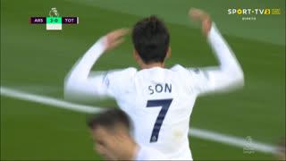 GOLO! Tottenham, Heung-Min Son aos 79', Arsenal 3-1 Tottenham