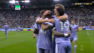 GOLO! Leeds United, Raphinha aos 13', Newcastle 0-1 Leeds United