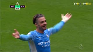 GOLO! Man. City, J. Grealish aos 22', Man. City 2-0 Norwich