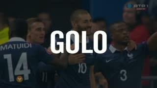 França, Benzema aos 3', França 1-0 Portugal