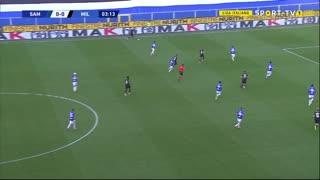 GOLO! Milan, Ibrahimovic aos 4', Sampdoria 0-1 Milan