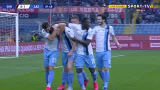 GOLO! Lazio, A. Maruši? aos 2', Genoa 0-1 Lazio