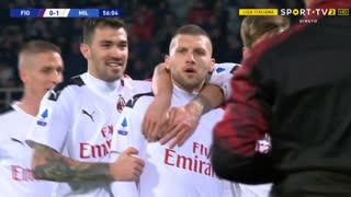 GOLO! Milan, A. Rebi? aos 56', Fiorentina 0-1 Milan