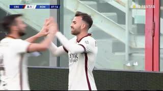GOLO! Roma, A. Borja Mayora aos 8', Crotone 0-1 Roma