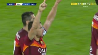 GOLO! Roma, E. Džeko aos 35', Roma 2-1 Benevento