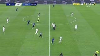 GOLO! Internazionale, R. Lukaku aos 10', Internazionale 1-0 Sassuolo