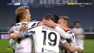 GOLO! Juventus, M. de Ligt aos 68', Juventus 3-1 Parma