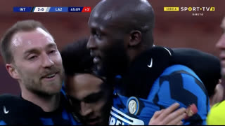GOLO! Internazionale, R. Lukaku aos 45', Internazionale 2-0 Lazio