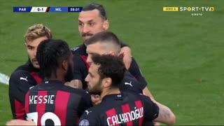 GOLO! Milan, A. Rebić aos 8', Parma 0-1 Milan