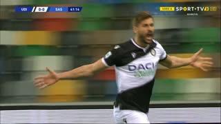 GOLO! Udinese, Llorente aos 42', Udinese 1-0 Sassuolo