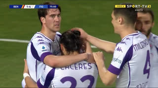 GOLO! Fiorentina, V. Eysseric aos 75', Benevento 1-4 Fiorentina