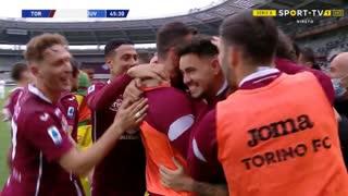 GOLO! Torino, A. Sanabria aos 46', Torino 2-1 Juventus