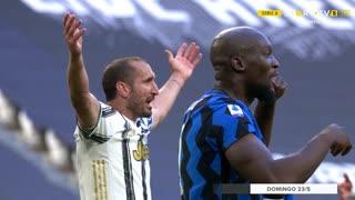 GOLO! Internazionale, G. Chiellini (p.b.) aos 83', Juventus 2-2 Internazionale