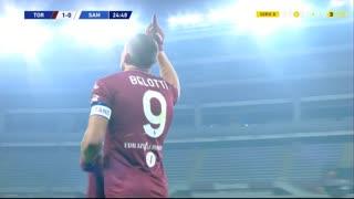 GOLO! Torino, A. Belotti aos 25', Torino 1-0 Sampdoria