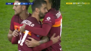 GOLO! Roma, L. Spinazzola aos 12', Roma 1-0 Fiorentina