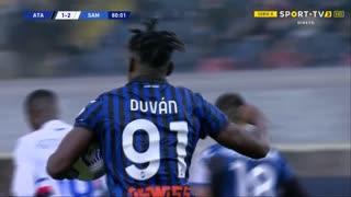 GOLO! Atalanta, D. Zapata aos 80', Atalanta 1-2 Sampdoria
