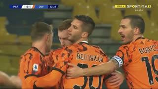 GOLO! Juventus, D. Kulusevski aos 23', Parma 0-1 Juventus