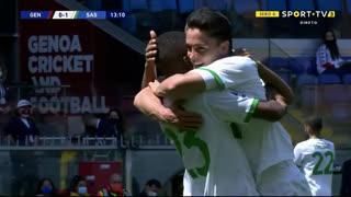 GOLO! Sassuolo, G. Raspadori aos 14', Genoa 0-1 Sassuolo