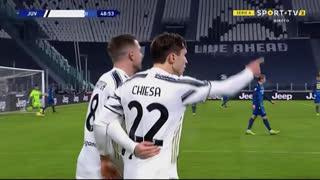 GOLO! Juventus, F. Chiesa aos 49', Juventus 2-0 Udinese