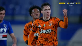 GOLO! Juventus, F. Chiesa aos 20', Sampdoria 0-1 Juventus