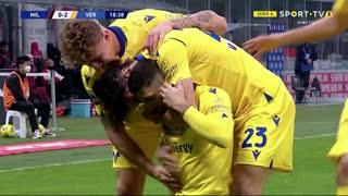 GOLO! Verona, M. Zaccagni aos 19', Milan 0-2 Verona