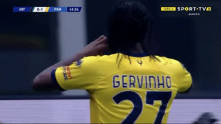 GOLO! Parma, Y. Gervinho aos 46', Internazionale 0-1 Parma