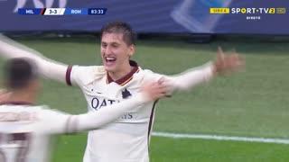 GOLO! Roma, M. Kumbulla aos 84', Milan 3-3 Roma