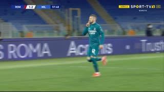GOLO! Milan, A. Rebić aos 58', Roma 1-2 Milan