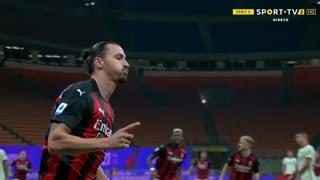 GOLO! Milan, Ibrahimovic aos 2', Milan 1-0 Roma