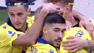GOLO! Verona, A. Barák aos 6', Milan 0-1 Verona