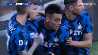 GOLO! Internazionale, L. Marrone (p.b.) aos 31', Internazionale 2-1 Crotone