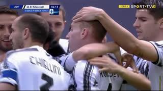 GOLO! Juventus, D. Kulusevski aos 4', Juventus 1-0 Genoa
