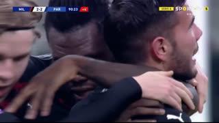 GOLO! Milan, T. Hernández aos 90'+1', Milan 2-2 Parma