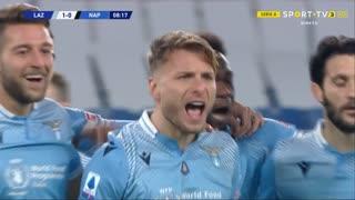GOLO! Lazio, C. Immobile aos 9', Lazio 1-0 Napoli