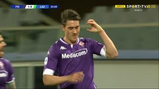 GOLO! Fiorentina, D. Vlahović aos 32', Fiorentina 1-0 Lazio