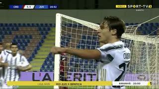 GOLO! Juventus, Álvaro Morata aos 21', Crotone 1-1 Juventus