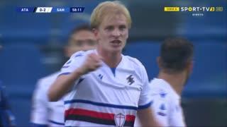 GOLO! Sampdoria, M. Thorsby aos 59', Atalanta 0-2 Sampdoria