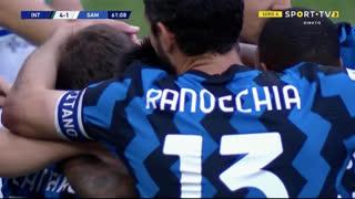 GOLO! Internazionale, A. Pinamonti aos 61', Internazionale 4-1 Sampdoria