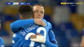 GOLO! Napoli, M. Politano aos 66', Napoli 2-0 Benevento