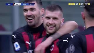 GOLO! Milan, A. Rebić aos 69', Milan 3-0 Crotone